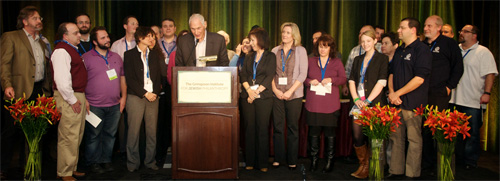Camps receiving their Legacy Program Bonus Checks at our Annual Conference.